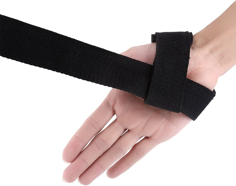 Durable Weight Lifting Straps Fitness Wrist Support Gloves Wrap Hand Bar Straps for Bodybuilding Training Weightlifting Wristbands