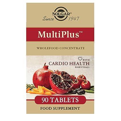 Solgar MultiPlus Cardio con Multinutrientes Esenciales para la salud cardíaca Comprimidos - Envase de 90