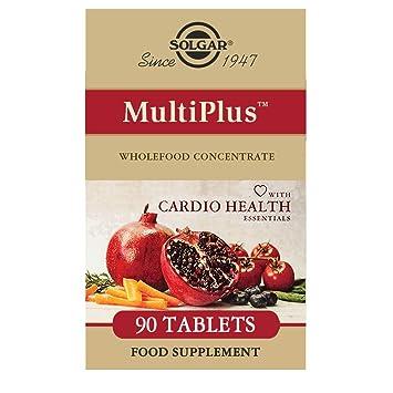 Solgar MultiPlus Cardio con Multinutrientes Esenciales para la salud cardíaca Comprimidos - Envase de 90: Amazon.es: Salud y cuidado personal