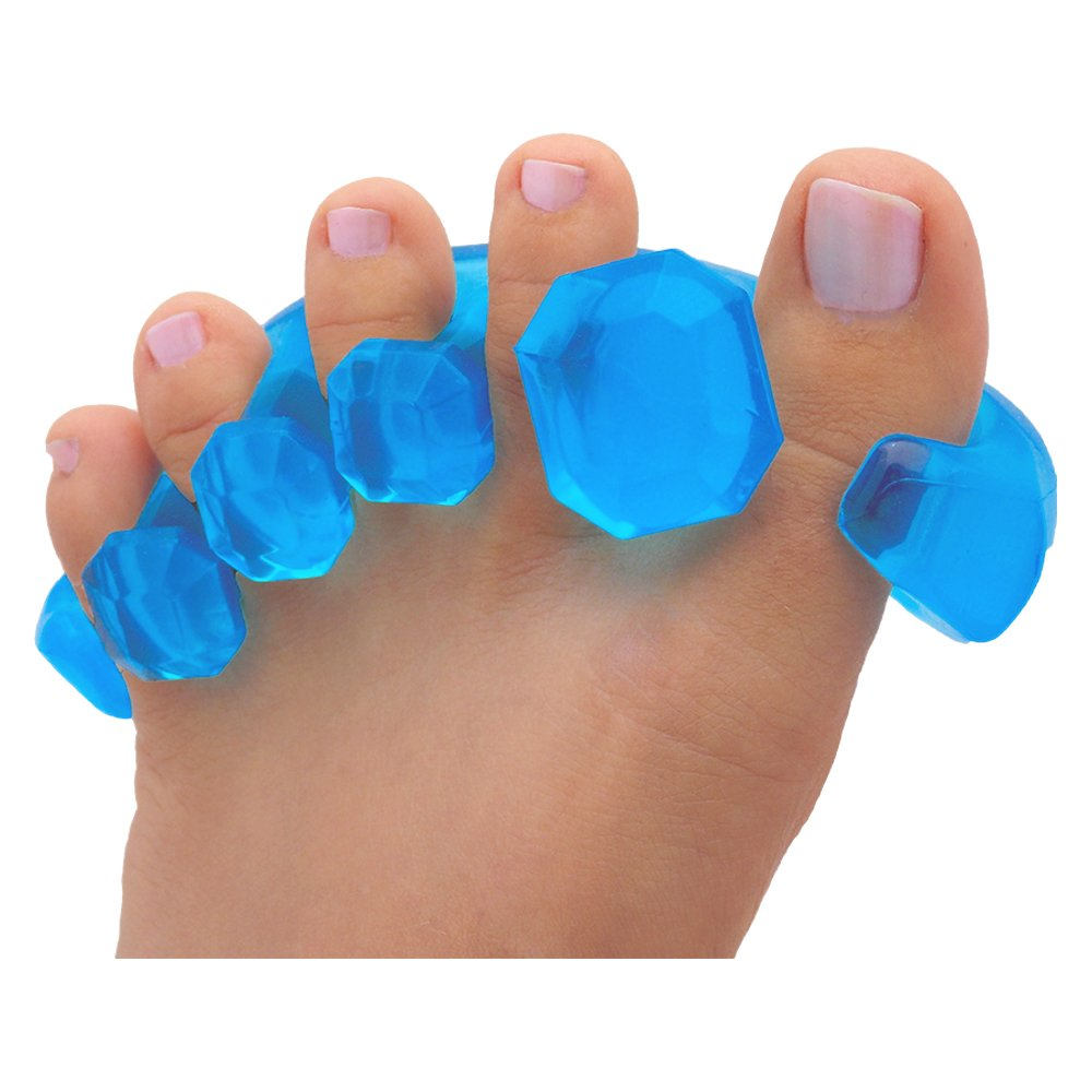 YogaToes GEMS: Gel Toe Stretcher & Separator -- Instant Therapeutic Relief For Feet. Fight Bunions, Hammer Toes & More!