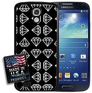 Diamond Black White Pattern Galaxy S4 Hard Case wangjiang maoyi