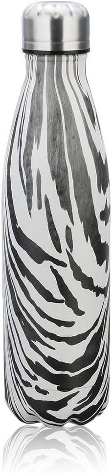 NYKKOLA Botella de agua deportiva de doble pared aislada al vacío de acero inoxidable, mantener caliente a 12, frío hasta 24 horas, botella térmica de hidratación de viaje