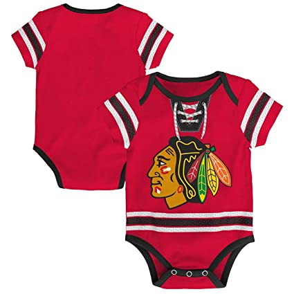 Image Unavailable. Image not available for. Color  Outerstuff Chicago  Blackhawks NHL Cherry Picking Infant Bodysuit Creeper Set 2030b1b4f
