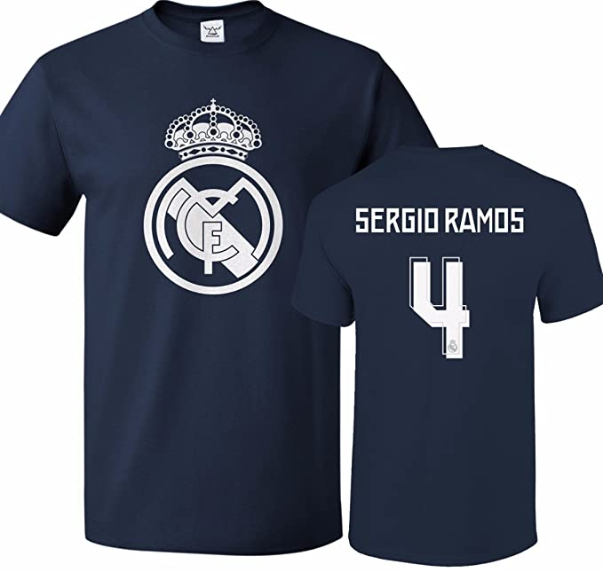 brand new c93a9 4358d Tcamp Real Madrid Shirt Sergio Ramos #4 Jersey Men T-shirt ...