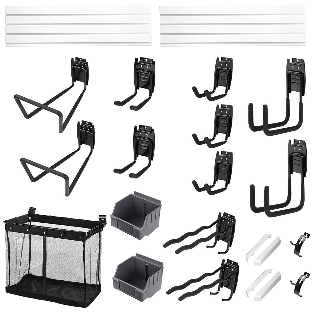 SortWise™ Basic Garage Storage Wall Panel Kit, Includes Slat Wall Panels and Garage Hook Kit