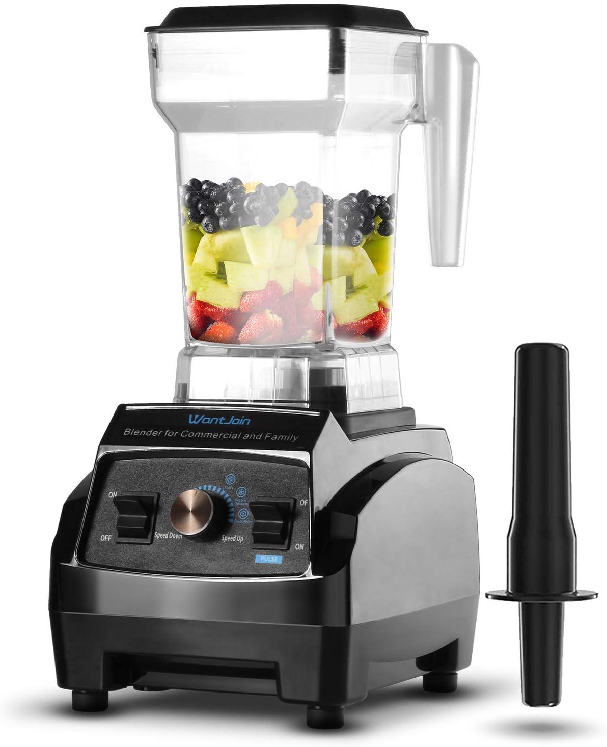 WantJoin Batidora de vaso para smoothie Maker Smoothie Blender, batidora profesional con recipiente de tritán de 1,8 l, de alto rendimiento para batidos y batidos, Frozen Desser (1,8 l) (1,8 l)