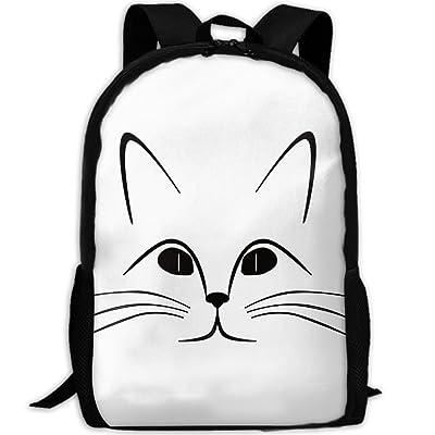 Cat Face Luxury Print Men And Women's Travel Knapsack good