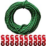 Shinetrip Tent Tools Accessories Set Of Guyline Adjuster - 50ft Reflective Tent Rope With 10 Pcs Aluminum Tensioners