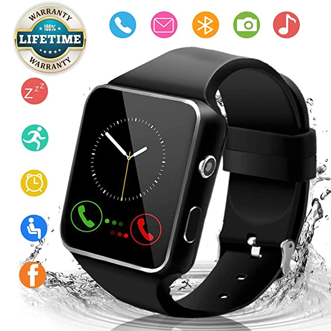 42f51d0672218c Android Smart Watch for Women Men, 2019 Bluetooth Smartwatch Smart Watches  Touchscreen with Camera, Cell Phone Watch with SIM Card Slot Compatible  Android ...