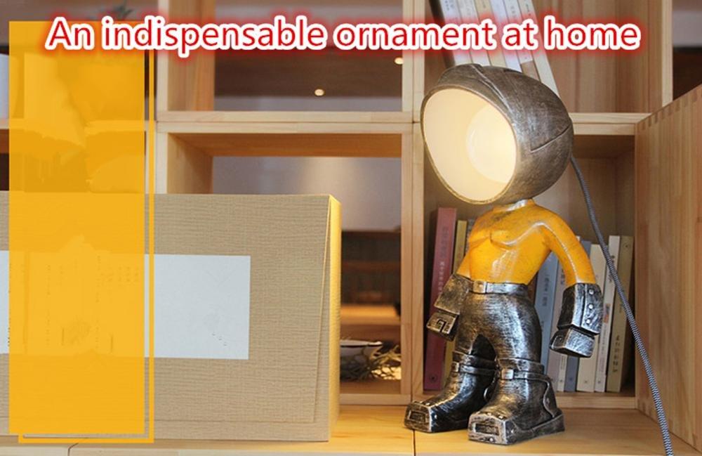 Dluf E27 Harz Spielzeug Tischlampe Schlafzimmer Wohnzimmer