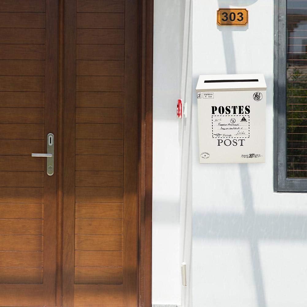 didatecar Briefkasten Vintage Mailbox Briefkasten Postbox Zeitungshalter Box Klassischer Briefkasten