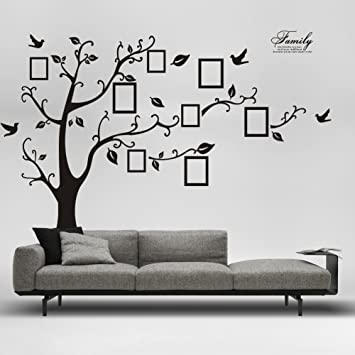 Large Family Tree Wall Decals Removable DIY Photo Gallery Frame