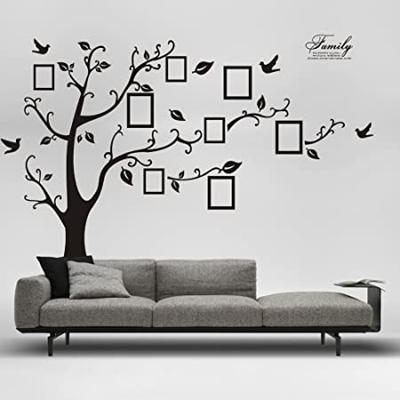 Large Family Tree Wall Decals Removable DIY Photo Gallery Frame ...