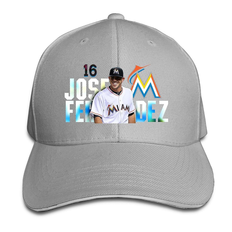 Reply1994 Jose Fernandez Unisex Outdoor Sandwich Peaked Baseball Cap