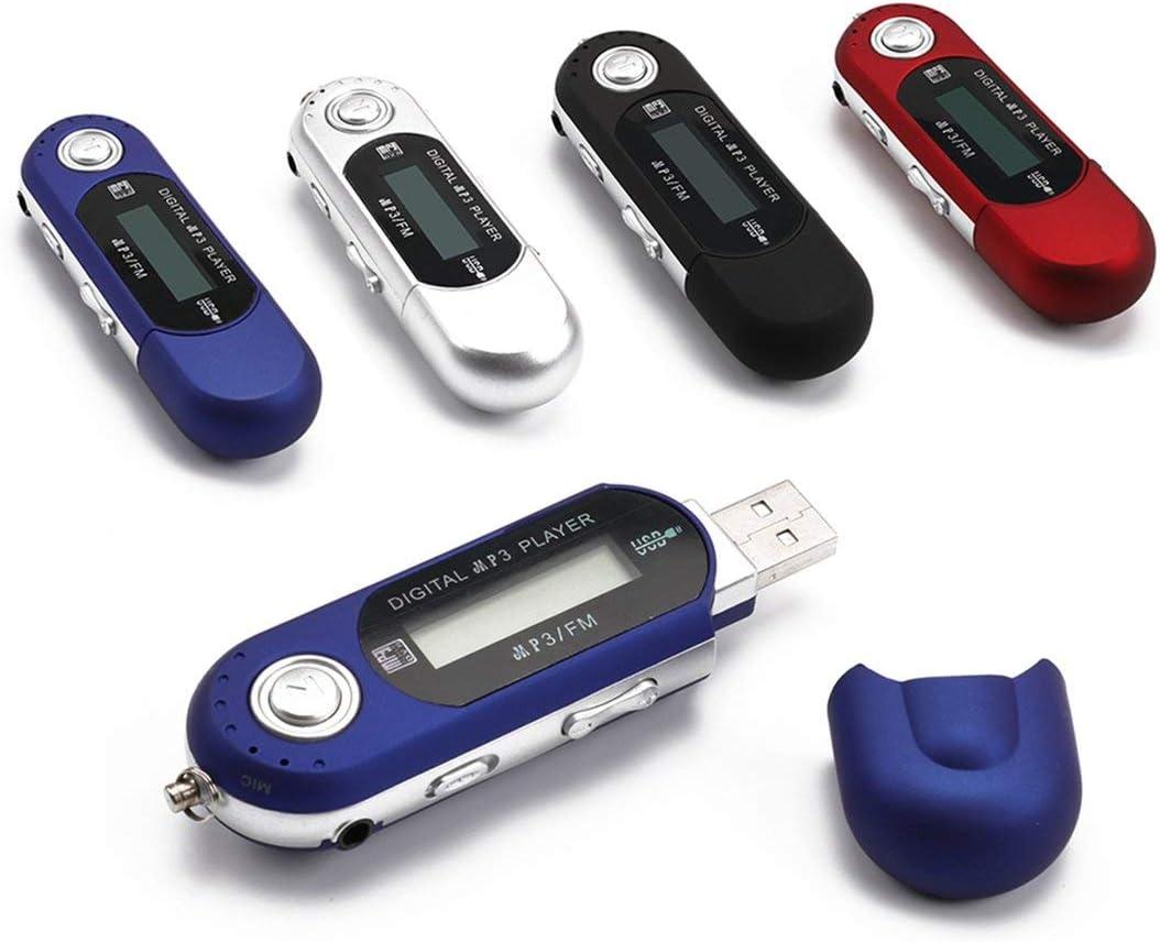 Lecteur Flash USB Lecteur de Musique num/érique LCD MP3 avec Radio FM et Lecteur de Carte TF