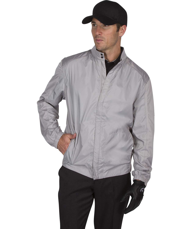 Three Sixty Six Full Zip Golf Jacket for Men - Lightweight Mens Rain Coat - Water Resistant Windbreaker