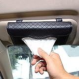 Cartisen Car Tissue Holder, Sun Visor Tissue Holder, Car Visor Napkin Holder, PU Leather Backseat Tissue Case for Car…