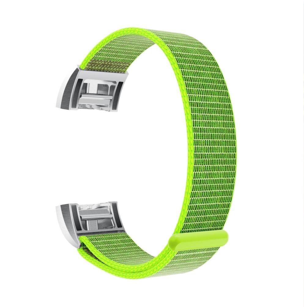 For Fitbit Charge 2バンド、sukeq高級ナイロンWatchブレスレット調節可能な交換用ストラップ磁気手首バンドfor Fitbit Charge 2 グリーン グリーン B07929H48Y