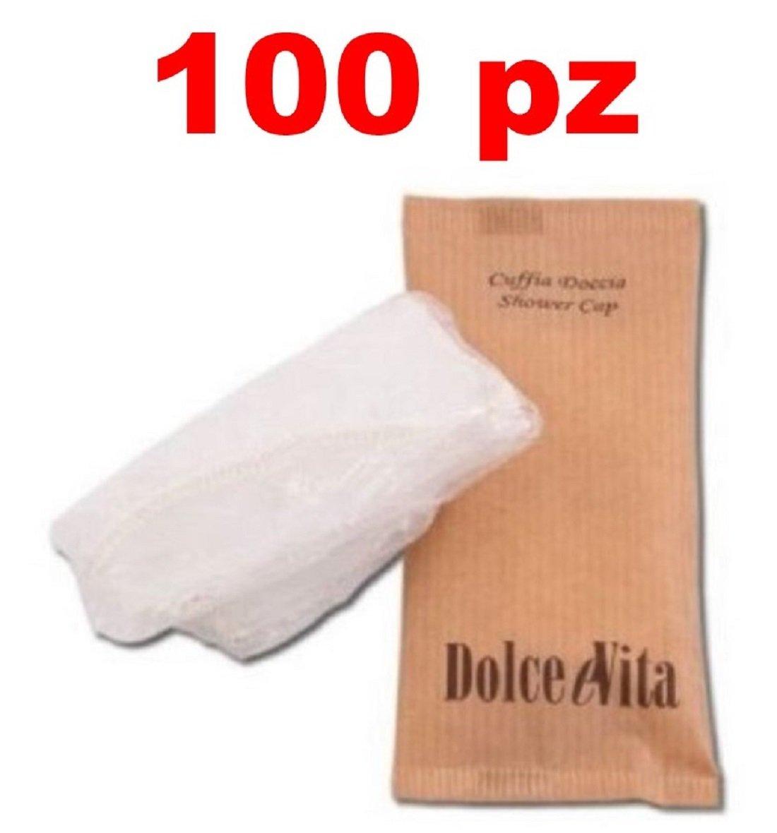 100 pz CUFFIA CUFFIE BAGNO DOCCIA MONOUSO IN CARTA SET CORTESIA ALBERGO B& B DOLCE VITA Menitashop