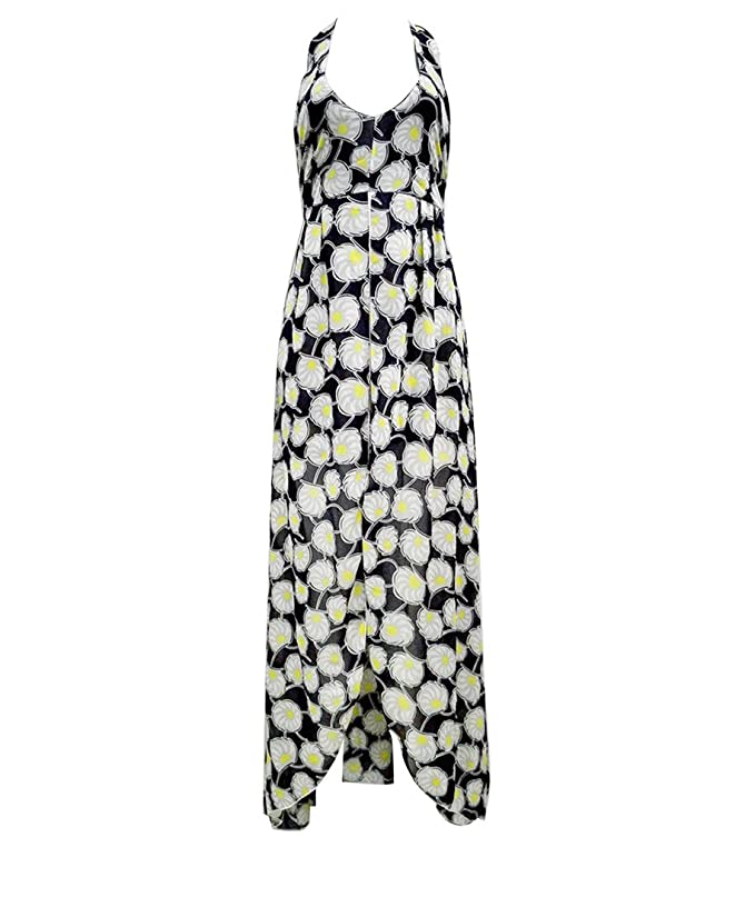 Womens V Neck Floral Maxi Dress Overlay Rompers Jumpsuit - -: Amazon.co.uk: Clothing