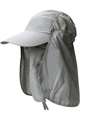 Leisial Sombrero Pesca del Sol Gorra al Aire Libre de Protección Solar  Transpirable Cap Sombrero de e1b7338d899