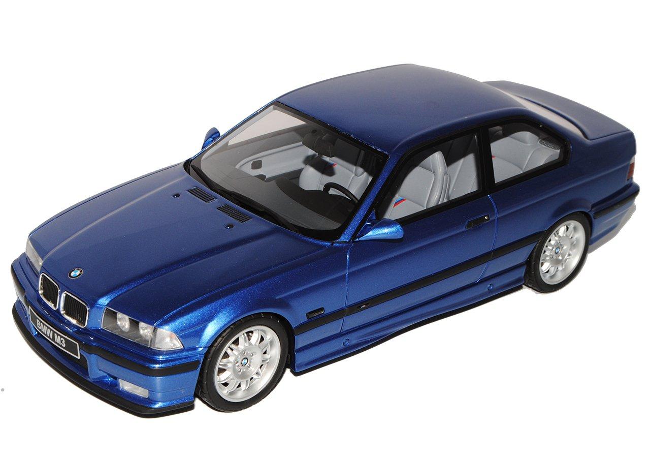 Unbekannt B-M-W 3er E36 Coupe M3 3,2 Blau 1990-2000 Nr 625 1//18 Otto Modell Auto mit individiuellem Wunschkennzeichen