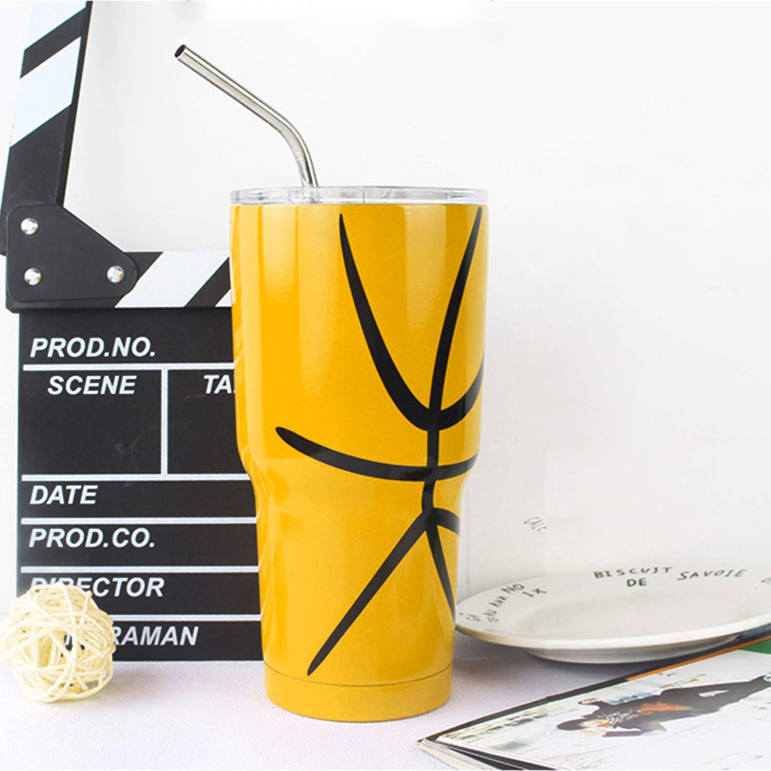YIHONG Set of 8 Stainless Steel Metal Straws Ultra Long 10.5 Inch Reusable Straws For Tumblers Rumblers Cold Beverage (4 Straight|4 Bent|2 Brushes)