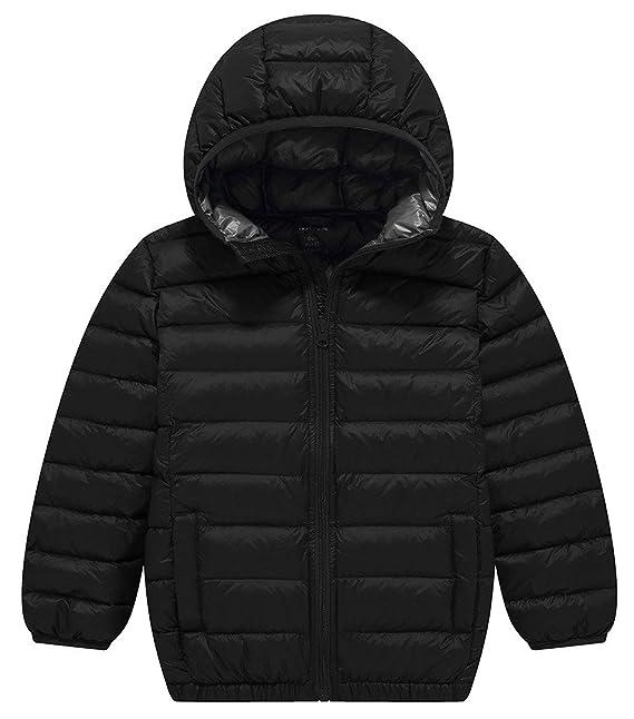 ZSHOW niños de plumón ligero abrigos Outwear con capucha Puffer Abrigo Abajo Chaquetas: Amazon.es: Ropa y accesorios