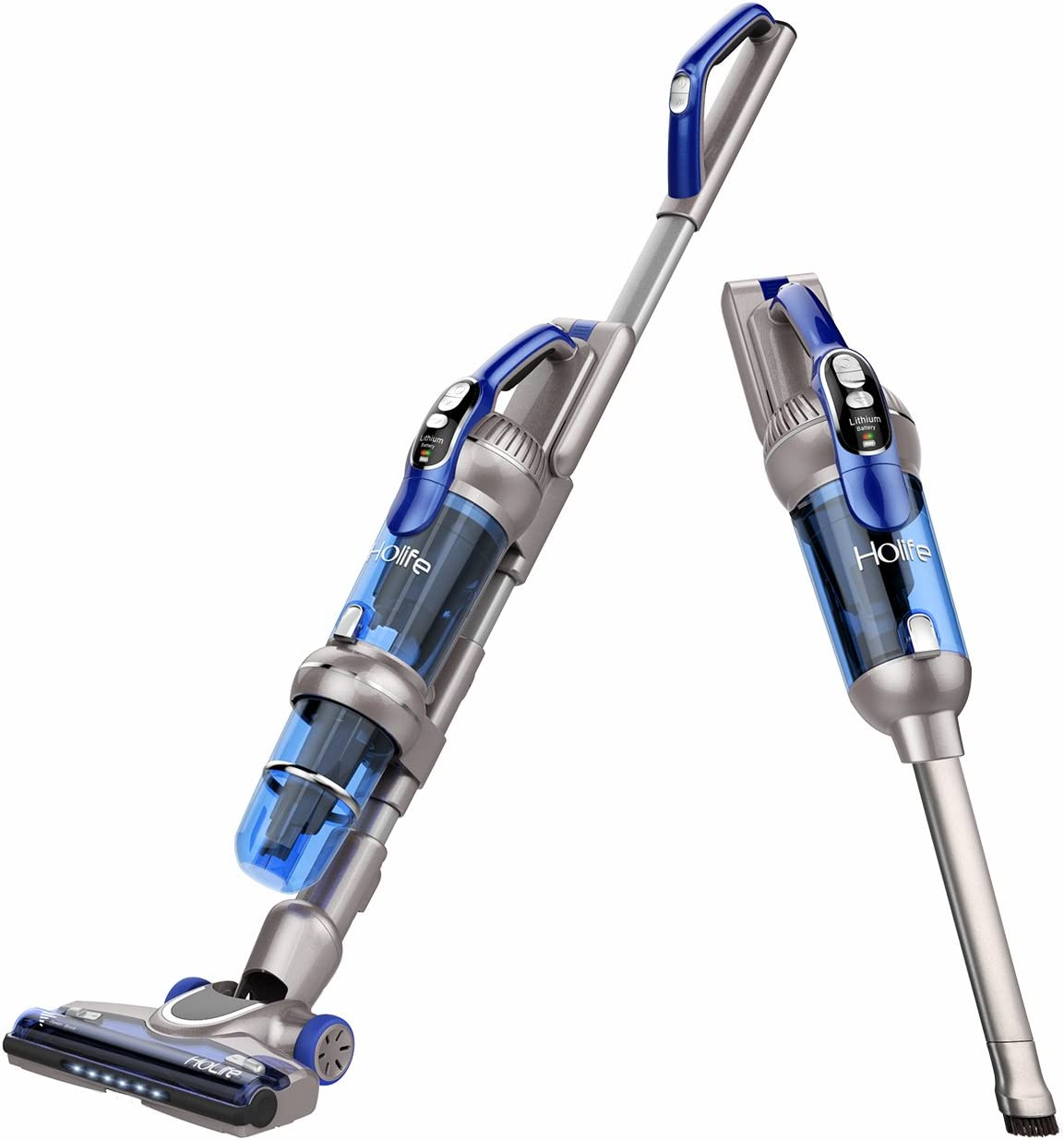 Holife 20Kpa Cordless Stick Vacuum Cleaner, 2-in-1 Powerful Upright & Handheld Vacuum Rechargeable, 380W Lightweight Hand Vacuum Bagless with LED Brush for Home Carpet Pet Cat Hair Floor