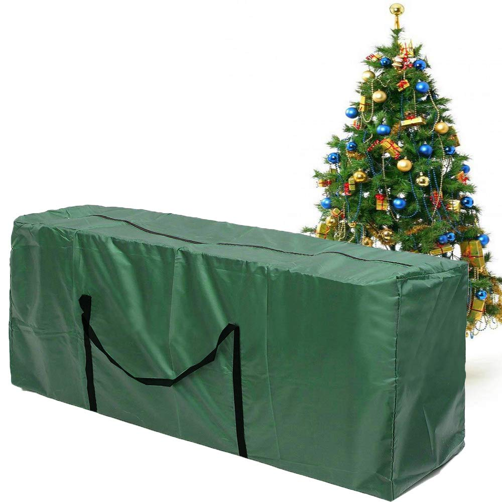 Sqoto Christmas Tree Storage Bag Extra Large Holiday Rolling Tree Storage Case Heavy Duty Xmas Tree Zippered Bag Fits Up to 9 Foot Tall - 68