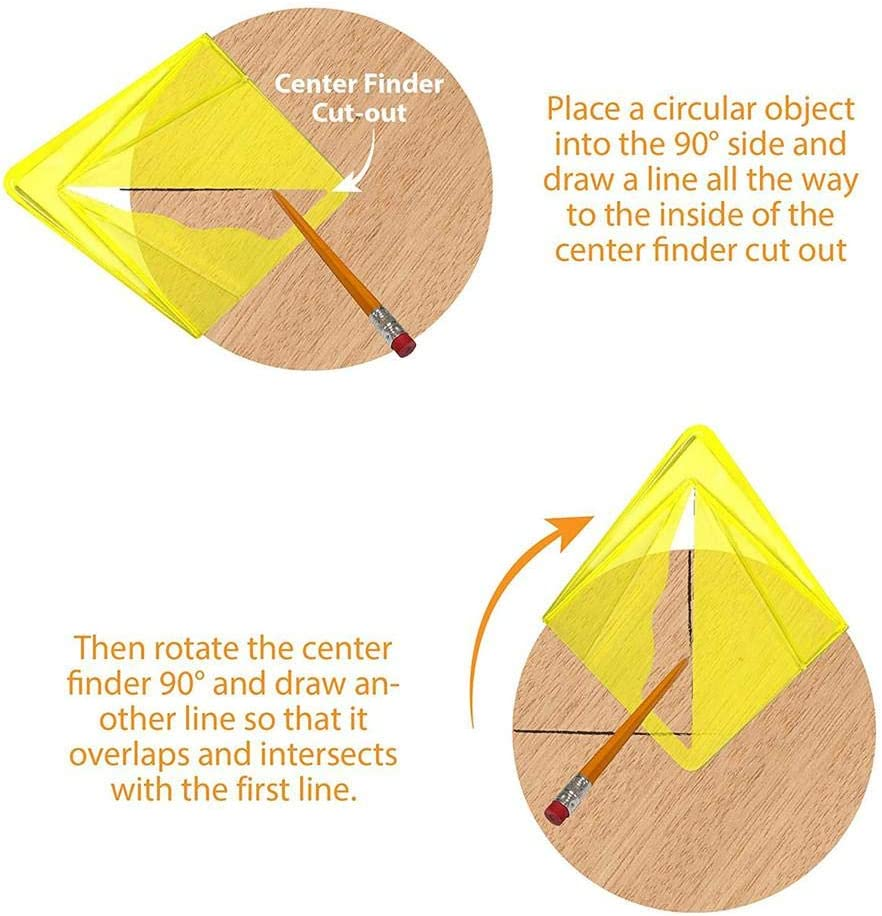 /ángulo de centrado para materiales redondos y rectangulares puntero de centrado los corazones profesionales herramienta de giro de torre Ardentity Centre Finder medidor de l/ínea