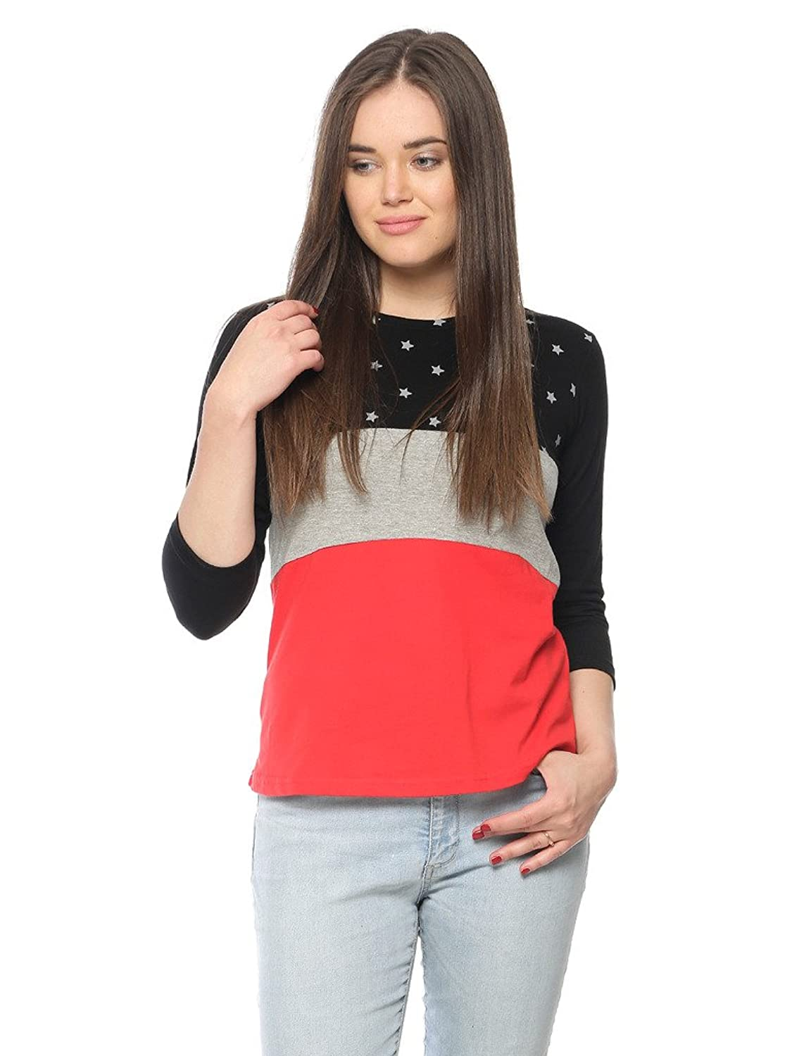 c56367c9f9ad36 Women's Top: Buy Jeans Top online at best prices in India - Amazon.in