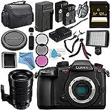 Panasonic Lumix DC-GH5S Mirrorless Micro Four Thirds Digital Camera + Panasonic Leica DG Vario-Elmar 100-400mm f/4-6.3 ASPH. POWER O.I.S. Lens + DMW-BLF19 Lithium Ion Battery + 128GB SDXC Card Bundle