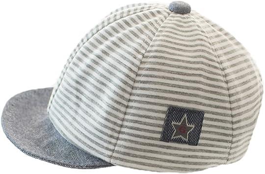 Gorra de béisbol de rayas de algodón para bebés recién nacidos ...
