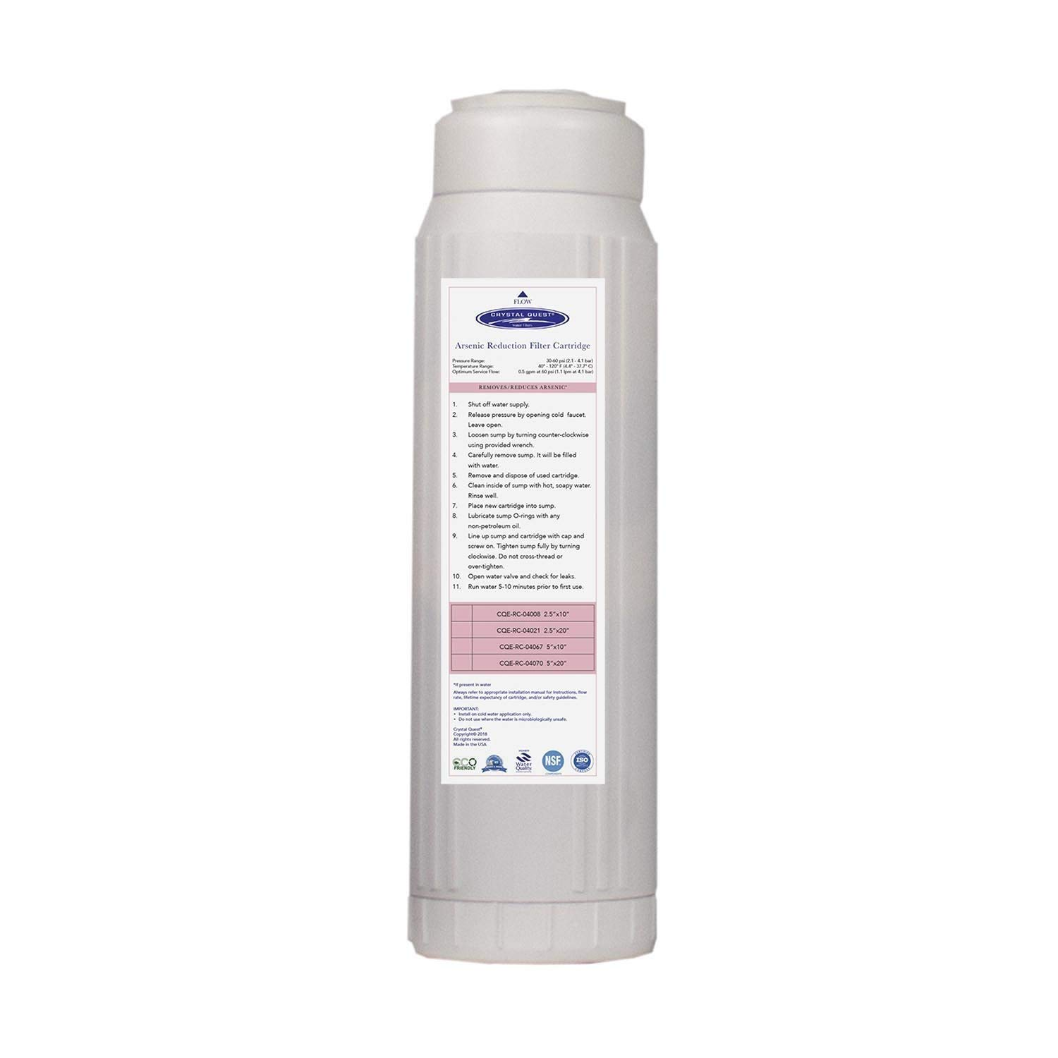 Crystal Quest CQE-RC-04008 Arsenic Filter by Crystal Quest