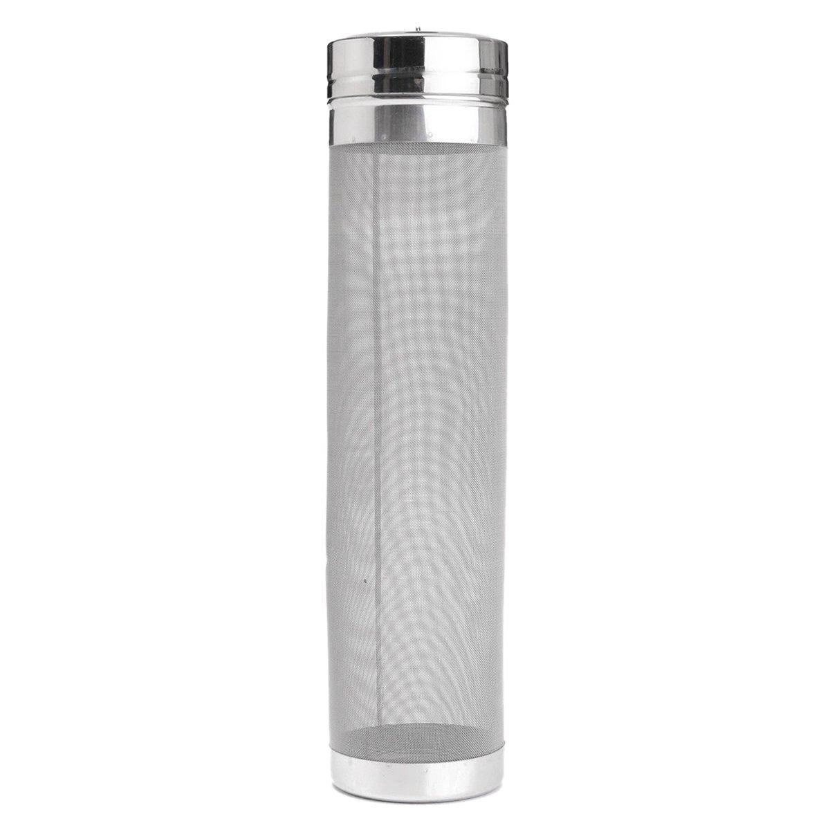 Toogoo 29x7cm Stainless Steel Homebrew Beer Dry Hopper Filter With 300 Micron Mesh For Cornelius Kegs Corny Keg