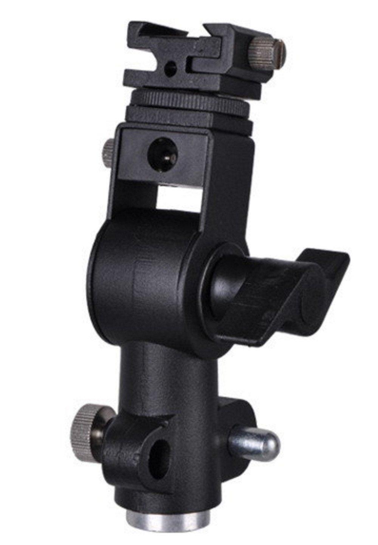 三脚とシールド接続ブラック付きBresser JMカメラフラッシュブラケット   B0161F9VJS