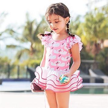 immagini ufficiali vendita a buon mercato usa Il miglior posto YYBSFZD Ragazze Rosa Costume Intero Carino Pieghettato ...