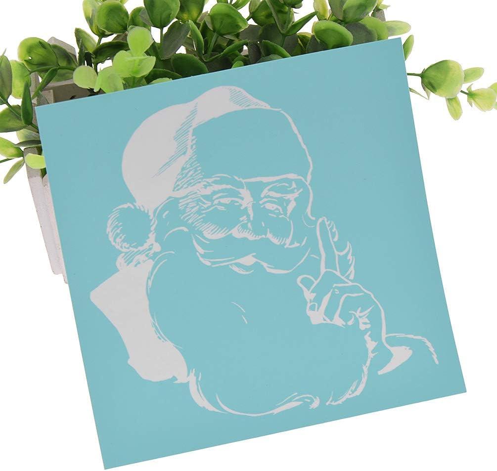Papier und Dekoration 10pcs Christmas CHZIMADE Weihnachtsmuster selbstklebende Siebdruckschablone f/ür Tasche T-Shirts