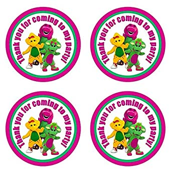 Amazoncom 12 Barney Circle Sticker Thank You for coming Dinosaur