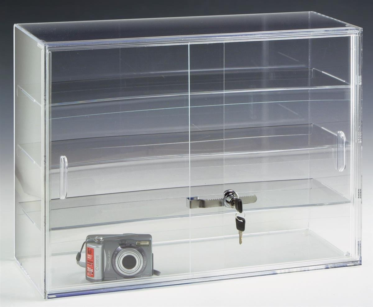 Displays2go 22 by 16-Inch Countertop Display Case with 3 Shelves by Displays2go