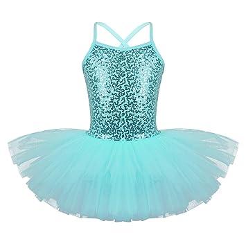Agoky Asymétrique Robe Danse Classique Tutu Enfant Fille Justaucorps Danse  Gymnastique Robe Ballet Latine Cancan Menuet e3d931a8839