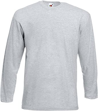 Fruit of the Loom - Camiseta de manga larga - para hombre gris gris xx-large: Amazon.es: Ropa y accesorios