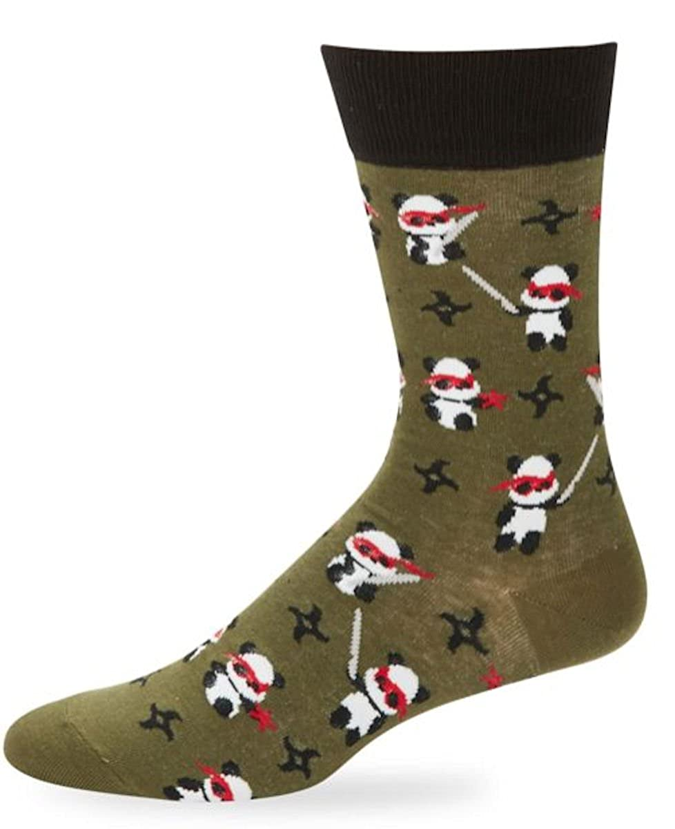 Amazon.com: Yo Sox Mens Crew Sock Ninja Panda: Clothing