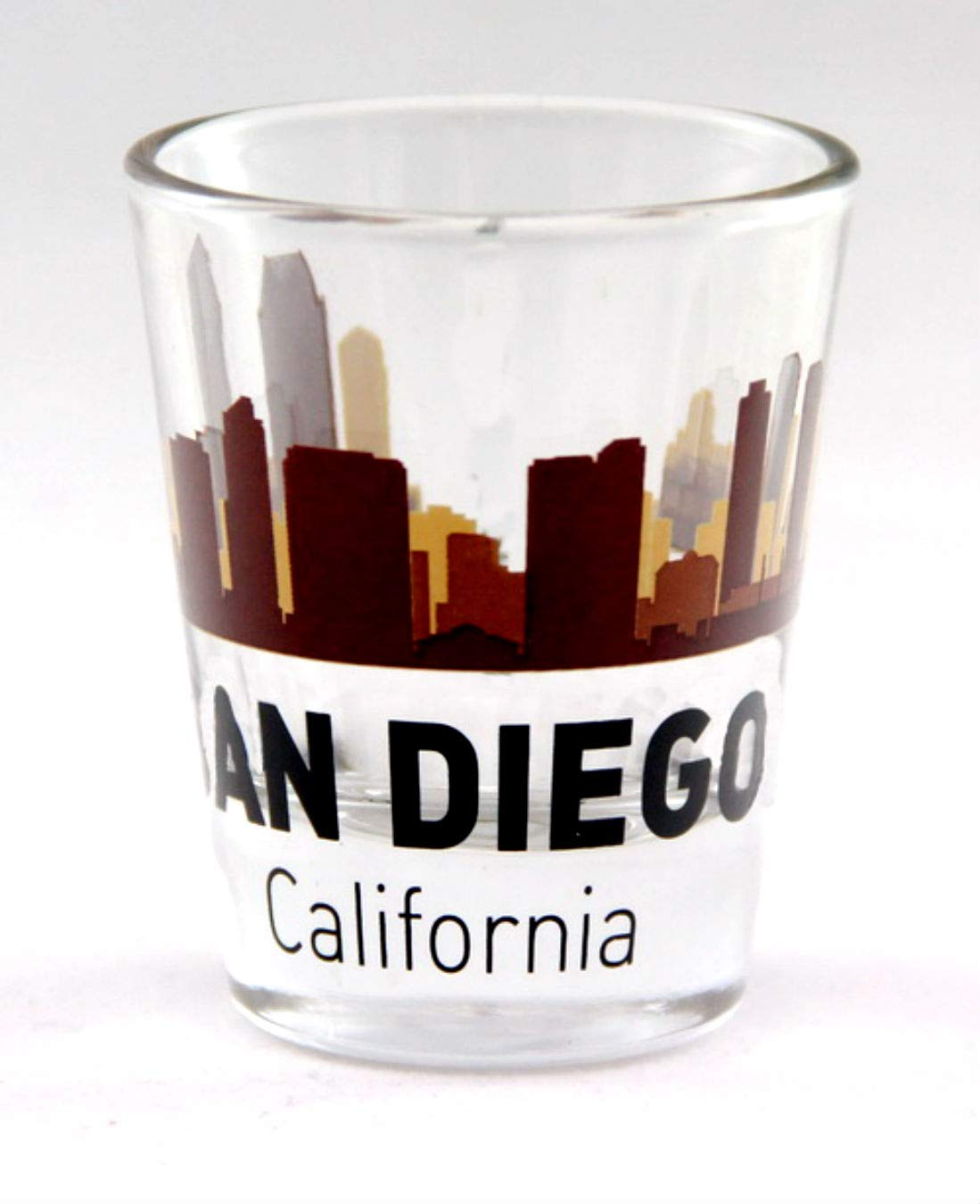 San Diego California Sunset Skyline Shot Glass
