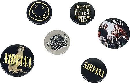 GB eye Pack de chapas Nirvana Smiley, Metal, Multicolor, Talla única: Amazon.es: Hogar