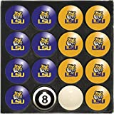 Imperial Officially Licensed NCAA Merchandise: Home vs. Away Billiard/Pool Balls, Complete 16 Ball Set, LSU Tigers