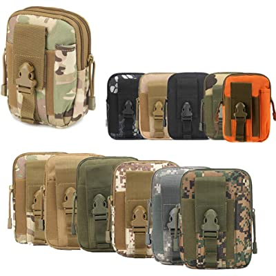ZhaoCo Multiusos Poly Herramienta Soporte, Tactical Molle EDC Bolsa Utilidad Gadget Bolsa de Cintura con Teléfono Móvil para Cinturón para Deportes Senderismo Camping