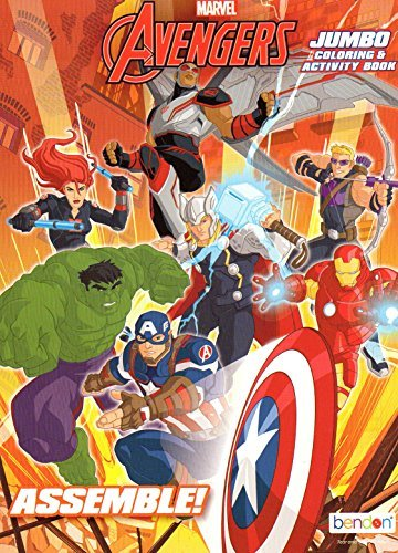 (Marvel Avengers Assemble Jumbo Coloring and Activity Book -)