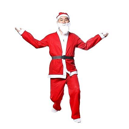 Amazon.com: Disfraz de Papá Noel de Navidad de 5 piezas ...